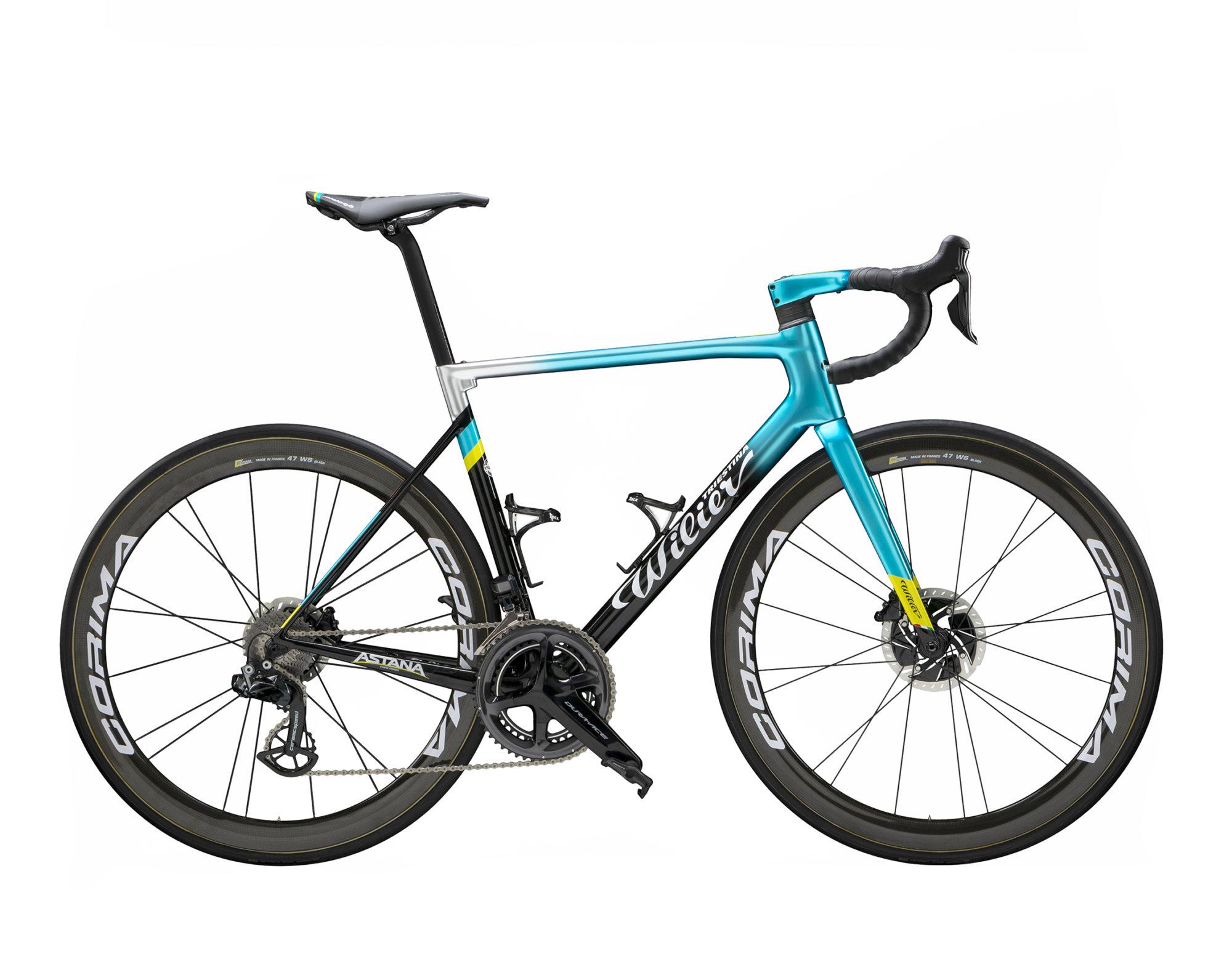 vélo wilier bleu et jaune